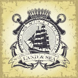 Stamp with a nautical theme Royalty Free Stock Image