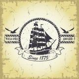 Nautical emblem design  Stock Images