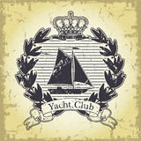 Yacht club emblem Royalty Free Stock Photos