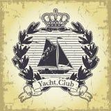 Yacht club emblem Royalty Free Stock Photos