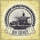 Sea freight illustration Stock Photos