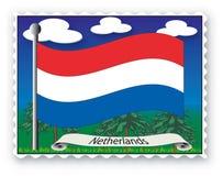 Stamp Netherlands stock illustration