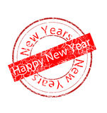 Stamp new year Royalty Free Stock Photo