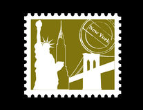 Stamp, New York royalty free stock image