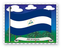 Stamp Nicaragua Royalty Free Stock Photography