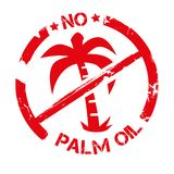 Stamp no palm oil vector illustration royalty free stock images
