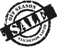 Stamp 'Off Season Sale''. An effective way to announce the a'season ending sale royalty free illustration