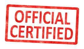 Stamp official certified Stock Photos