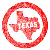 Texas Map Stamp. A stamp with a outline map of the state of Texas Royalty Free Stock Photography
