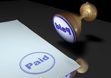 Stamp: Paid Royalty Free Stock Image