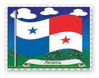 Stamp  Panama Royalty Free Stock Images