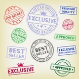 Stamp on paper background Royalty Free Stock Photo