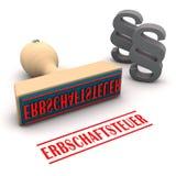 Stamp Paragraphs Erbschaftsteuer vector illustration