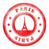 Stamp of Paris. Red, round Stock Image