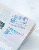 Stamp in the passport of the nation chile Royalty Free Stock Images
