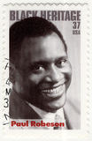 Stamp with Paul Robeson Stock Images