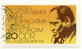 Stamp with Paul Robeson Royalty Free Stock Photos