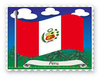 Stamp  Peru Royalty Free Stock Photos