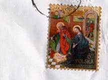 Stamp of Poland Royalty Free Stock Photo