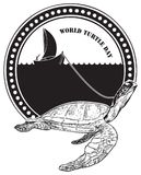 Stamp World Turtle Day Royalty Free Stock Photo