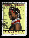 Stamp printed in the Angola shows Natives, Angolan Women Stock Photo