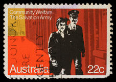 Stamp printed in Australia honoring Community Welfare, Salvation Army Stock Photo
