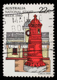 Stamp printed in Australia from the `National Stamp Week` issue shows postbox Stock Images