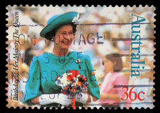 Stamp printed by Australia, shows Queen Elizabeth II Stock Photo