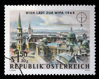 Stamp printed in Austria, is dedicated to the Vienna International Philatelic Exhibition. A stamp printed in Austria, is dedicated to the Vienna International Stock Photos