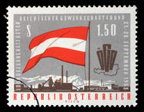 Stamp printed in Austria, devoted to the 5th Congress of the Austrian Trade Union Federation Stock Photos