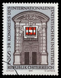 Stamp printed in Austria, devoted to the 39th Congress International Statistical Institute Royalty Free Stock Photo
