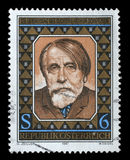 Stamp printed in Austria issued for the 125th anniversary of the birth of Arthur Schnitzler Royalty Free Stock Photos