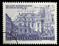 Stamp printed in the Austria shows Academy of Science, by Canaletto, Vienna Stock Photos