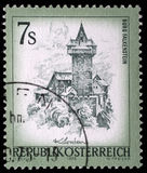 Stamp printed in Austria shows Burg Falkenstein. A stamp printed in Austria shows Burg Falkenstein, from the series Sights in Austria, circa 1973 Stock Photo