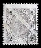 Stamp printed by Austria, shows Emperor Franz Joseph. Circa 1907 Royalty Free Stock Images