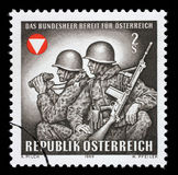 Stamp printed by Austria, shows Frontier guards Royalty Free Stock Photos