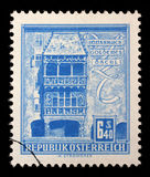 Stamp printed in the Austria shows Golden Roof, Innsbruck Stock Photo
