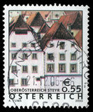 Stamp printed in Austria shows image of the Sankt Ulrich bei Stey Stock Photo