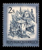 Stamp printed in the Austria shows Inn Bridge, Alt Finstermunz, Tirol. A stamp printed in the Austria shows Inn Bridge, Alt Finstermunz, Tirol, circa 1974 royalty free stock image