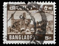 Stamp printed in Bangladesh shows Lalbagh Fort also known as `Fort Aurangabad`. A stamp printed in Bangladesh shows Lalbagh Fort also known as `Fort Aurangabad royalty free stock images