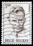 Stamp printed by Belgium shows Stijn Streuvels Royalty Free Stock Photography