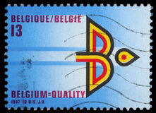 Stamp printed by Belgium shows Year of Belgian Export Royalty Free Stock Photo