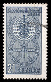 Stamp printed by Brazil dedicated to the Malaria Eradication Royalty Free Stock Image