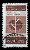 Stamp printed by Brazil shows International Coffee Convention, Rio de Janeiro Royalty Free Stock Photo