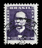 Stamp printed in Brazil, shows portrait of Joaquim Murtinho Stock Photography