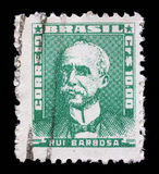 Stamp printed in Brazil, shows portrait of Ruy Barbosa Stock Photos