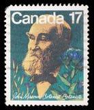Stamp printed in Canada shows botanist John Macoun. A stamp printed in Canada shows botanist John Macoun, circa 1981 royalty free stock photos