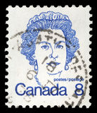 Stamp printed in Canada shows Queen Elizabeth II Stock Image