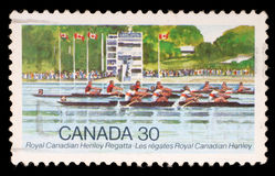 Stamp printed by Canada, shows Royal Canadian Henley Regatta Royalty Free Stock Image