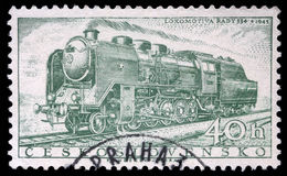Stamp printed in Czechoslovakia showing the `Rady 534` Locomotive Royalty Free Stock Photo